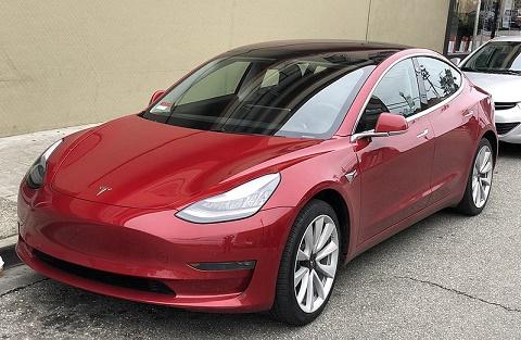 tesla 3 elektrische auto