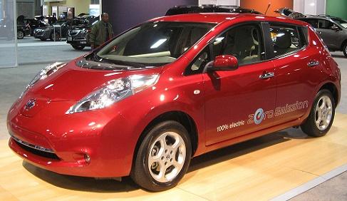Nissan Leaf 2011, foto uit publiek domein Wikipedia